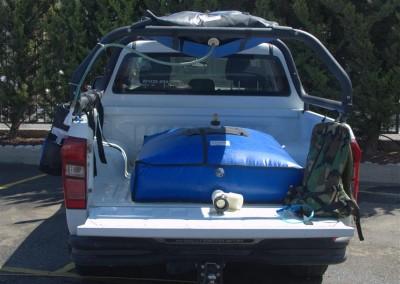 EZPack™ Bladders on a Pickup